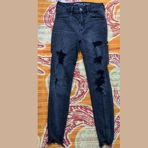 American Eagle Distressed Stretch High-Rise Jeans